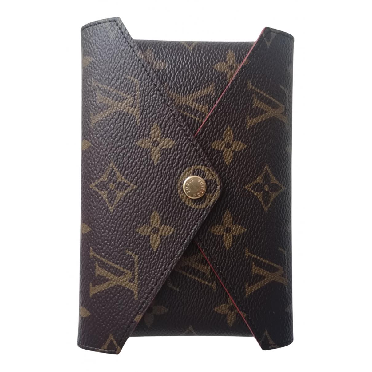 Louis Vuitton Kirigami Clutch in  Braun Leinen