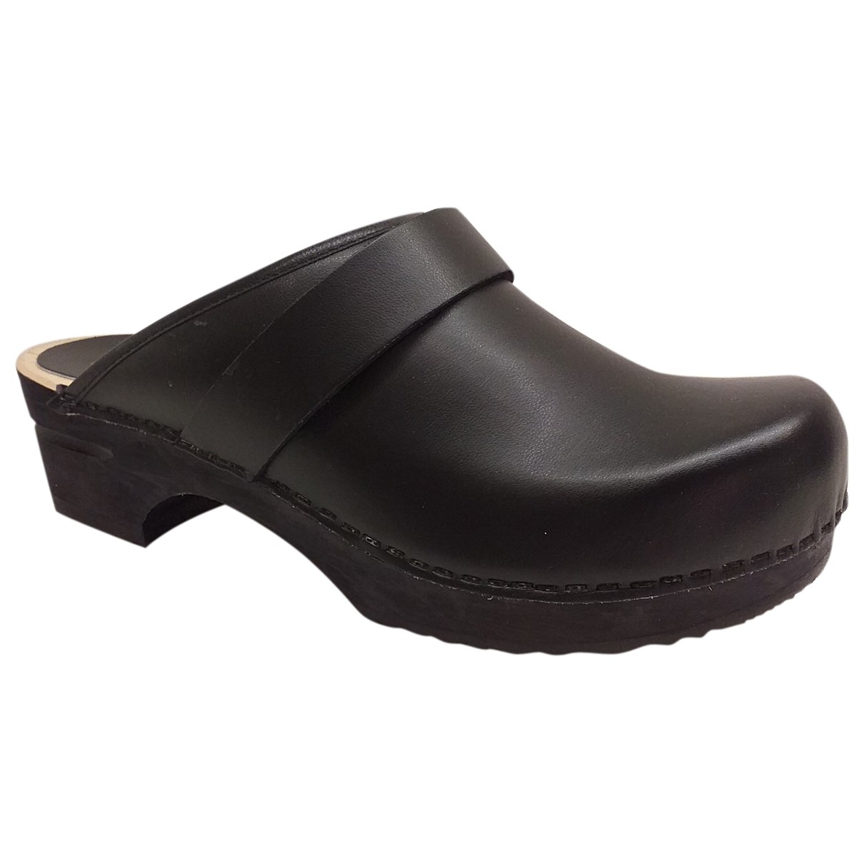 Non Signé / Unsigned Hippie Chic Black Leather Mules & Clogs for Women 40 EU