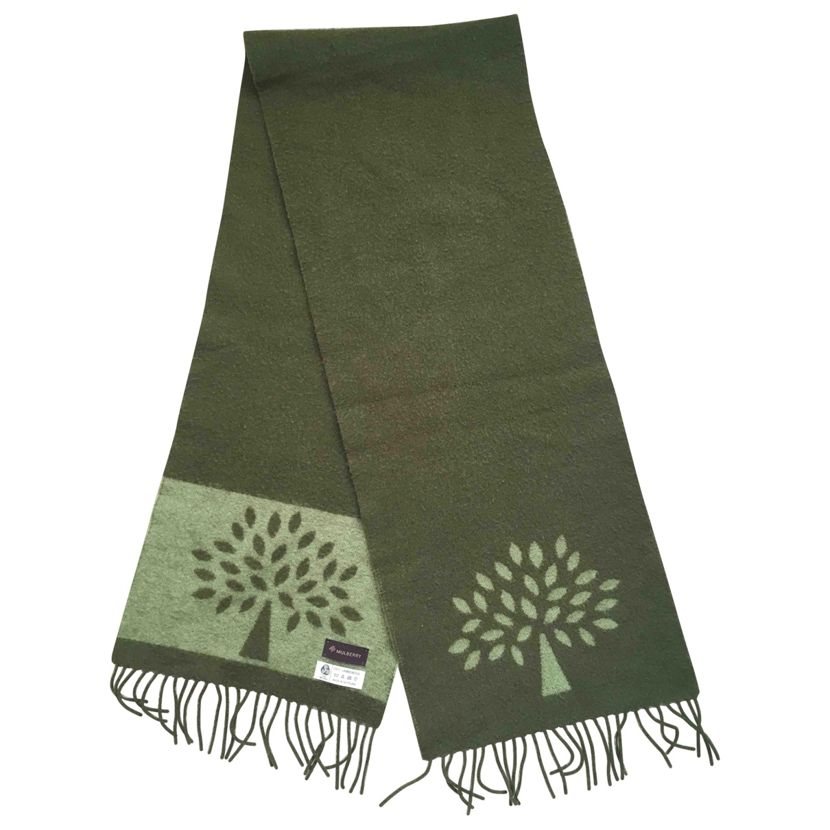 Mulberry \N Green Wool scarf & pocket squares for Men \N