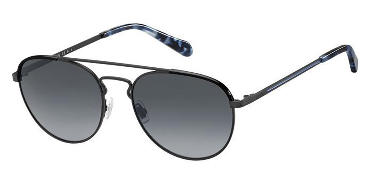 Fossil FOS 2105/G/S 003/9O Mens Sunglasses Black Size 55