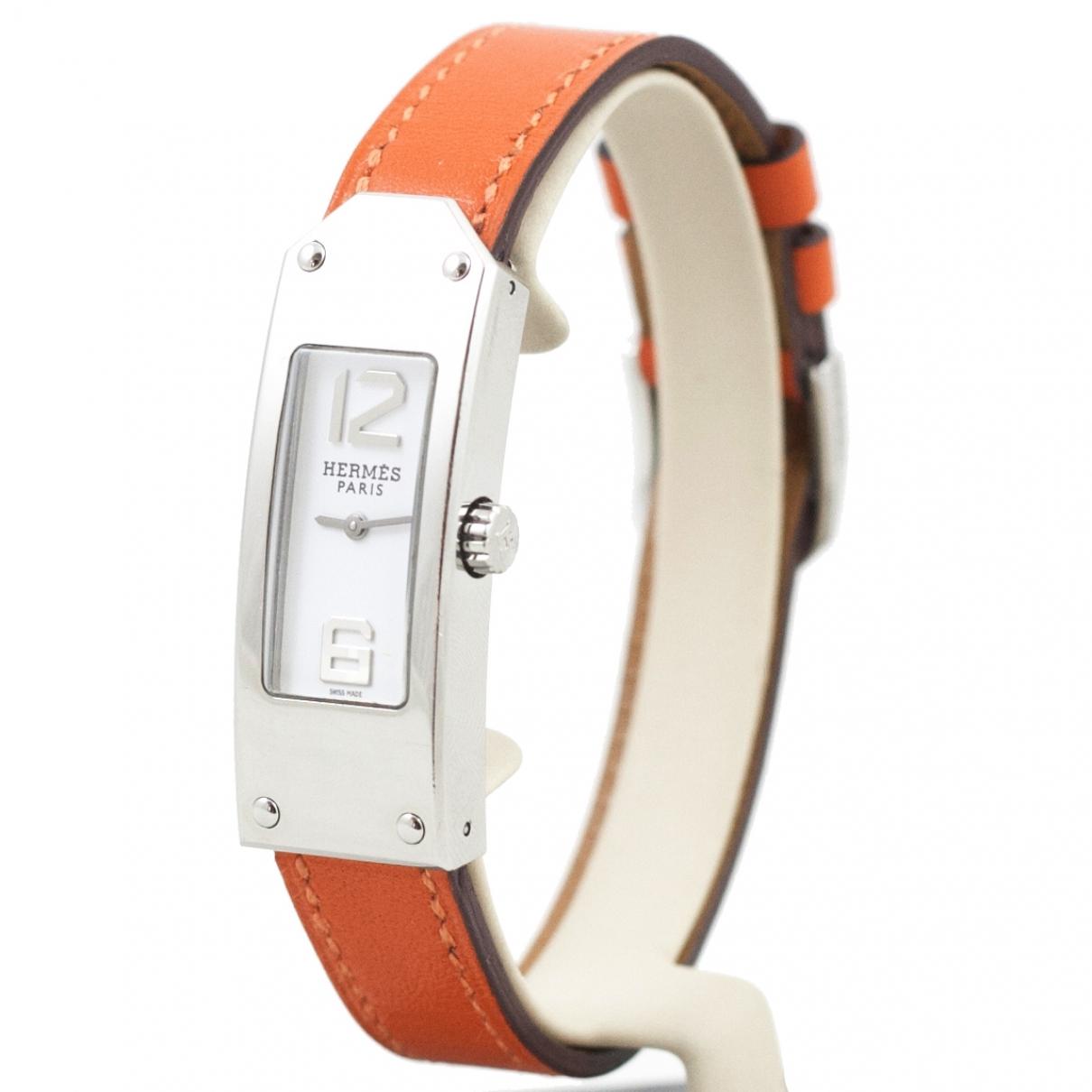 Hermès Kelly II Orange Steel watch for Women \N