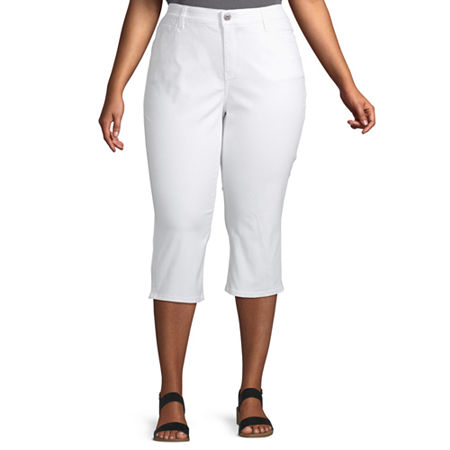 Liz Claiborne Flexi Fit Crop - Plus, 22w , White