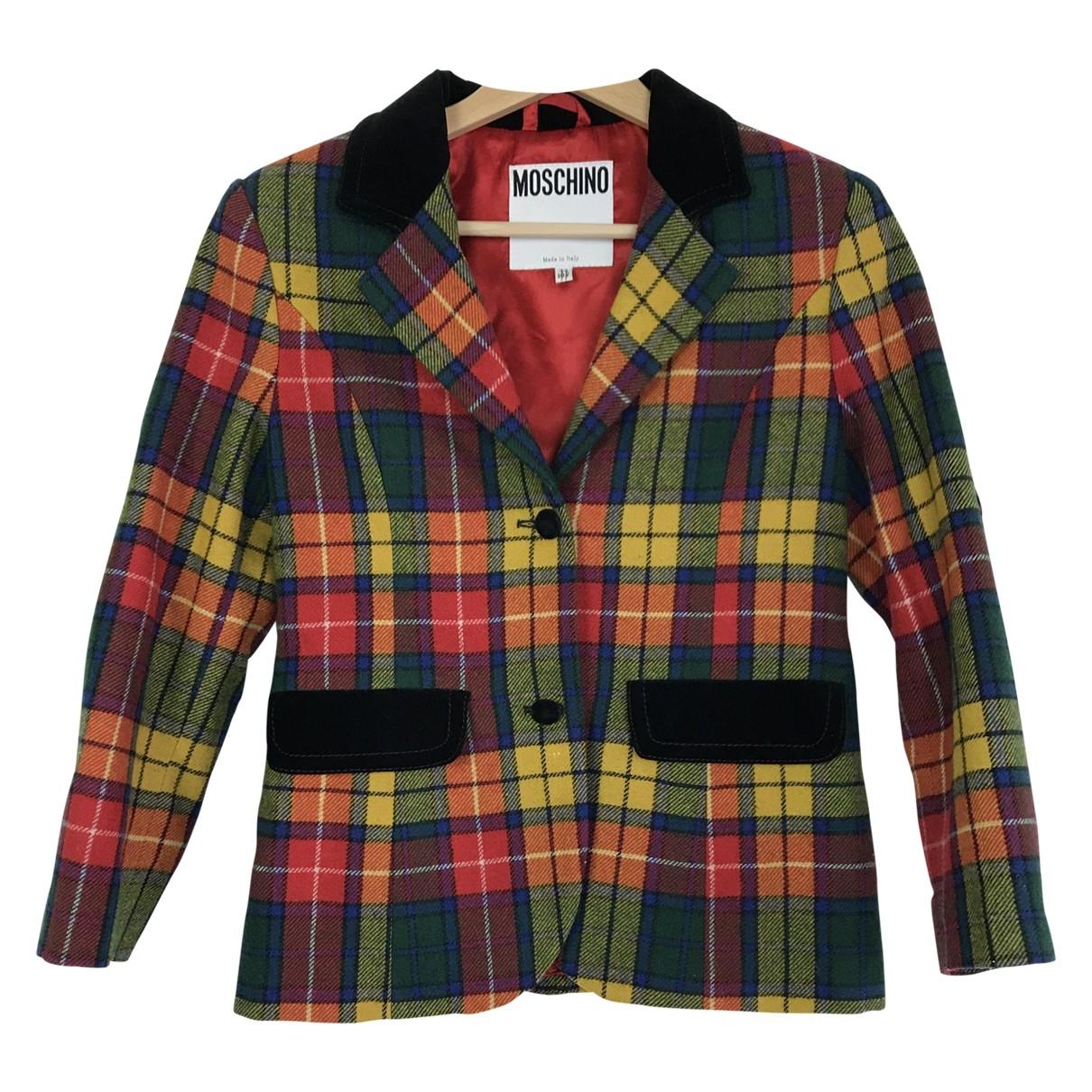 Moschino - Blousons.Manteaux   pour enfant en laine - multicolore