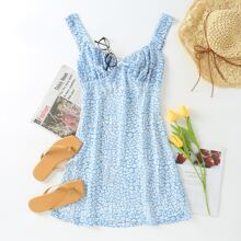 All Over Print Bustier Cami Dress