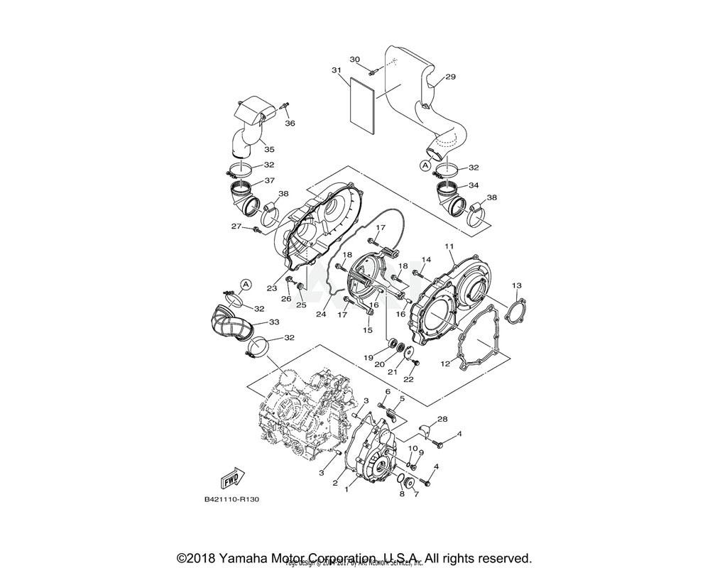 Yamaha OEM 3B4-15379-00-00 SEAL, CRANKCASE