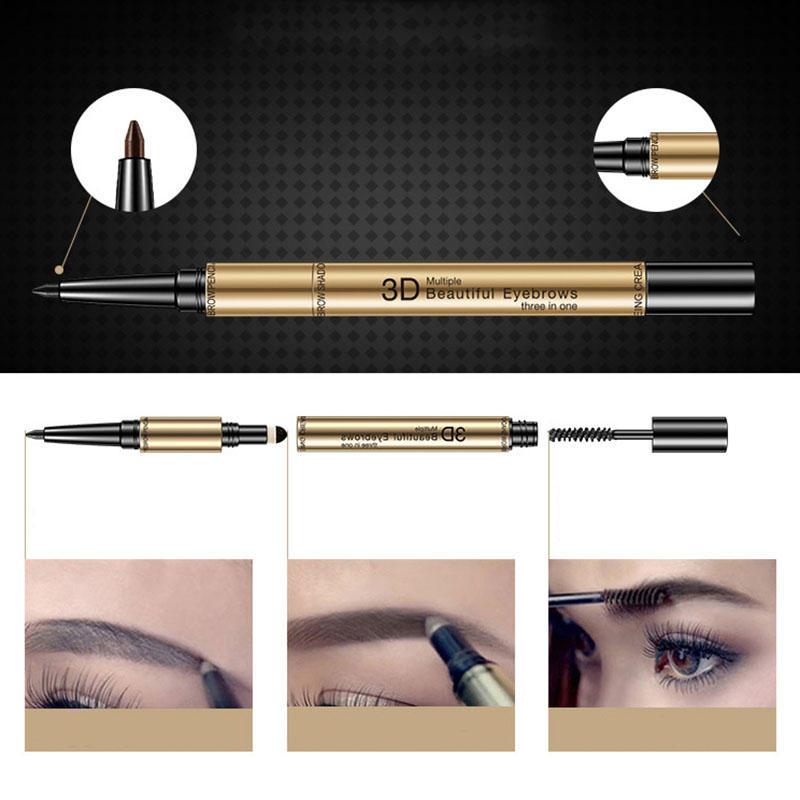 3 In 1 Eyebrow Pencil Waterproof Eyebrow Pen