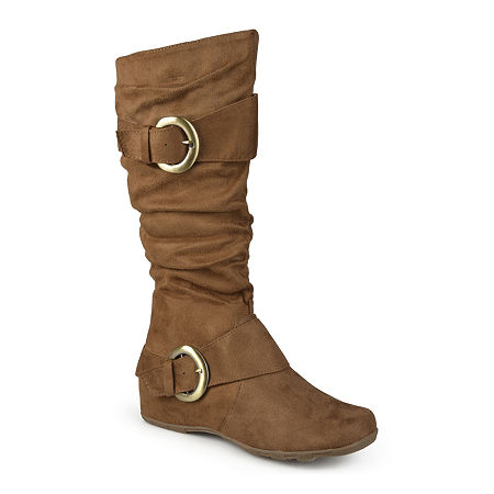Journee Collection Womens Jester Slouch Boots, 6 Medium, Brown