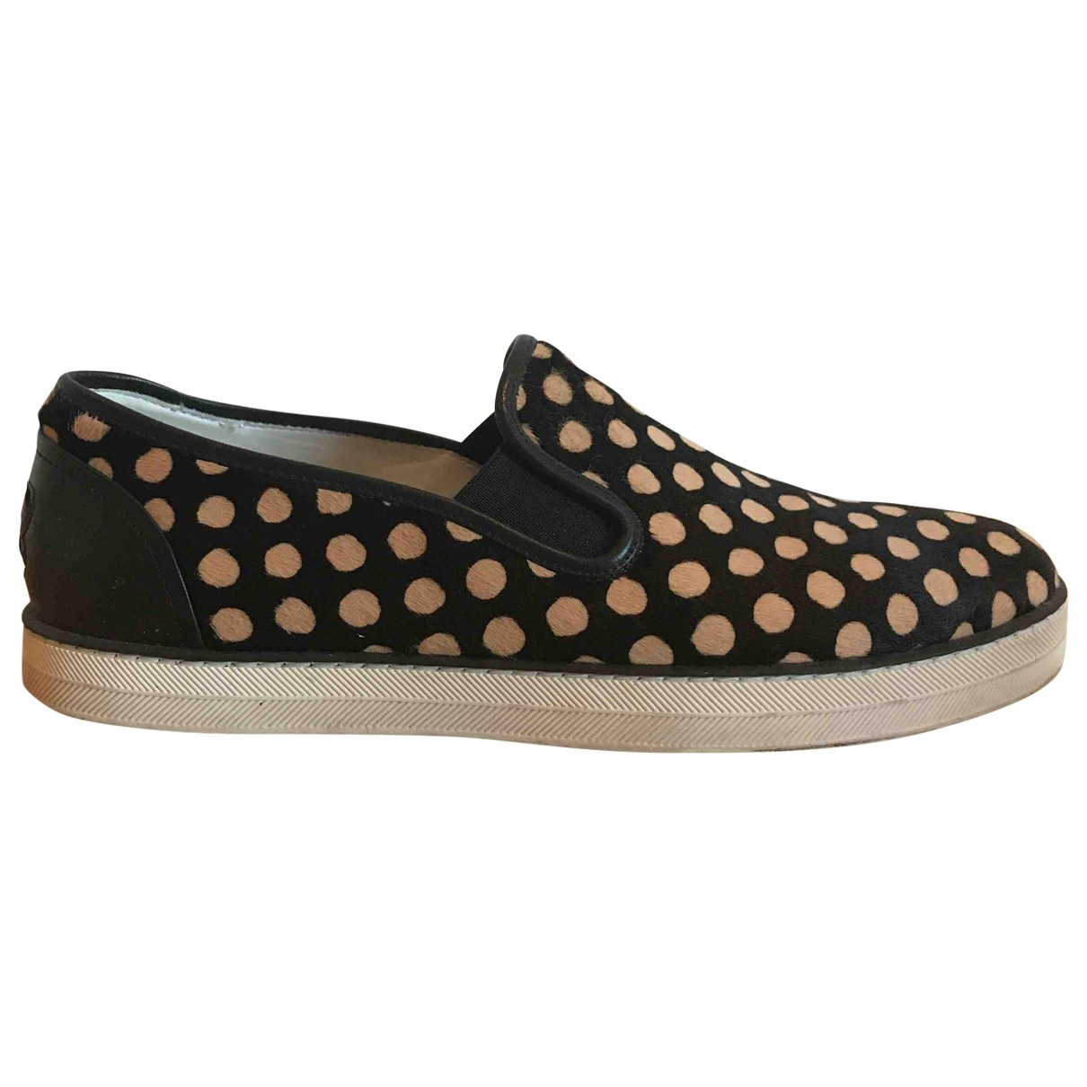 Bottega Veneta \N Black Pony-style calfskin Trainers for Women 39 EU
