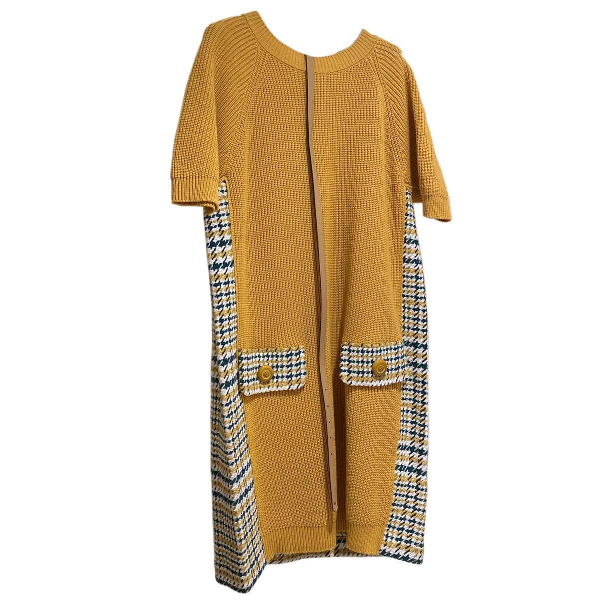 Elisabetta Franchi N Yellow Cotton dress for Women 38 FR