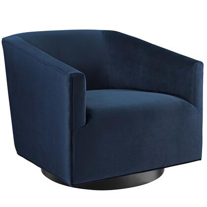 Twist Collection EEI-3456-MID Accent Lounge Performance Velvet Swivel Chair in Midnight Blue