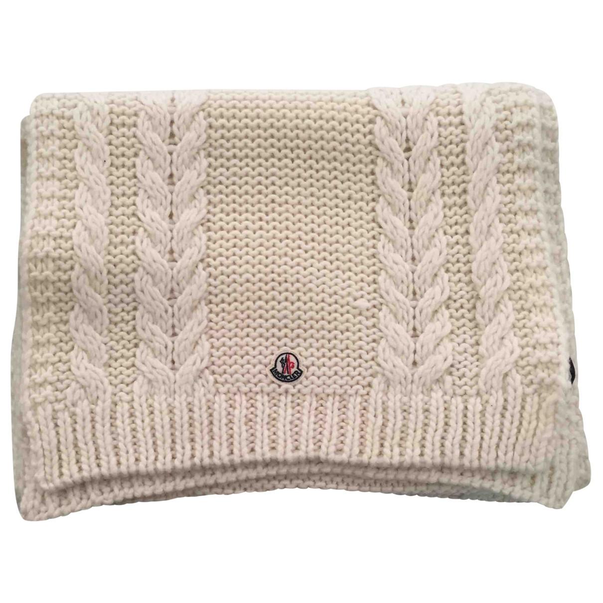Moncler - Foulard   pour femme en laine - ecru