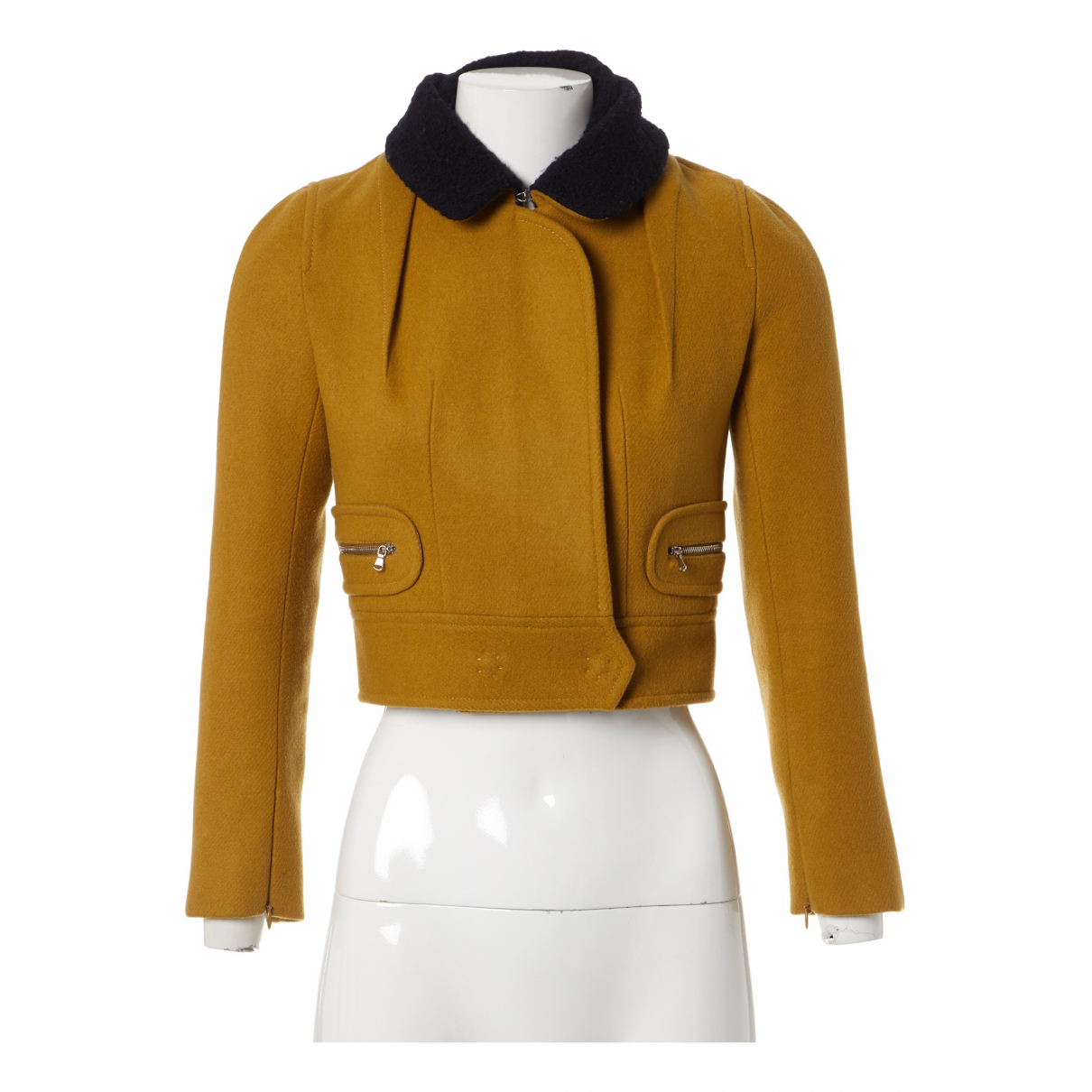 Carven N Yellow Wool jacket for Women 36 FR