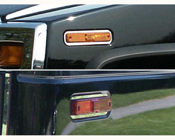 Quality Automotive Accessories 4-Piece Marker Light Trim Hummer H2 2004