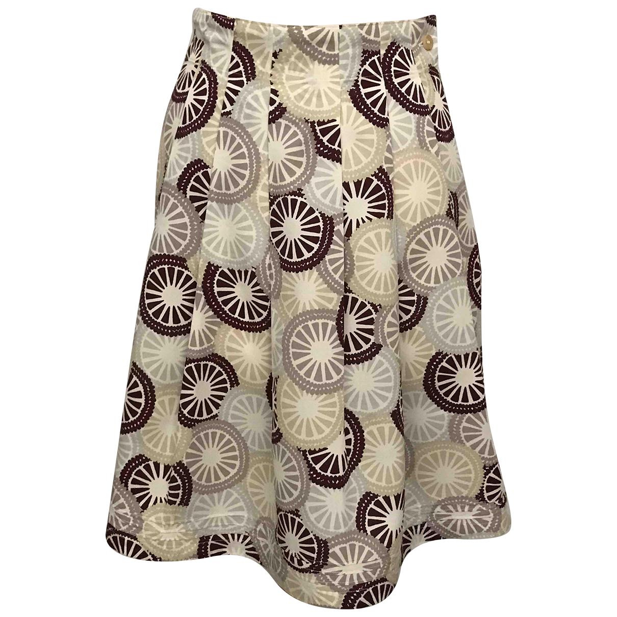 Falda midi de Seda Apc