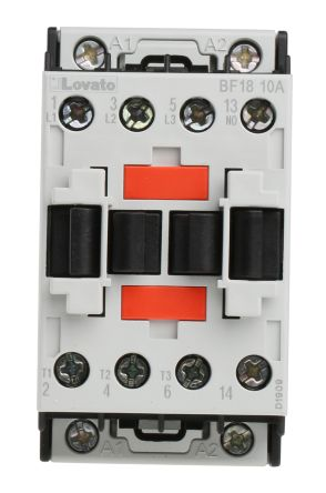 Lovato 3 Pole Contactor - 18 A, 230 V ac Coil, Orange, 3NO, 7.5 kW