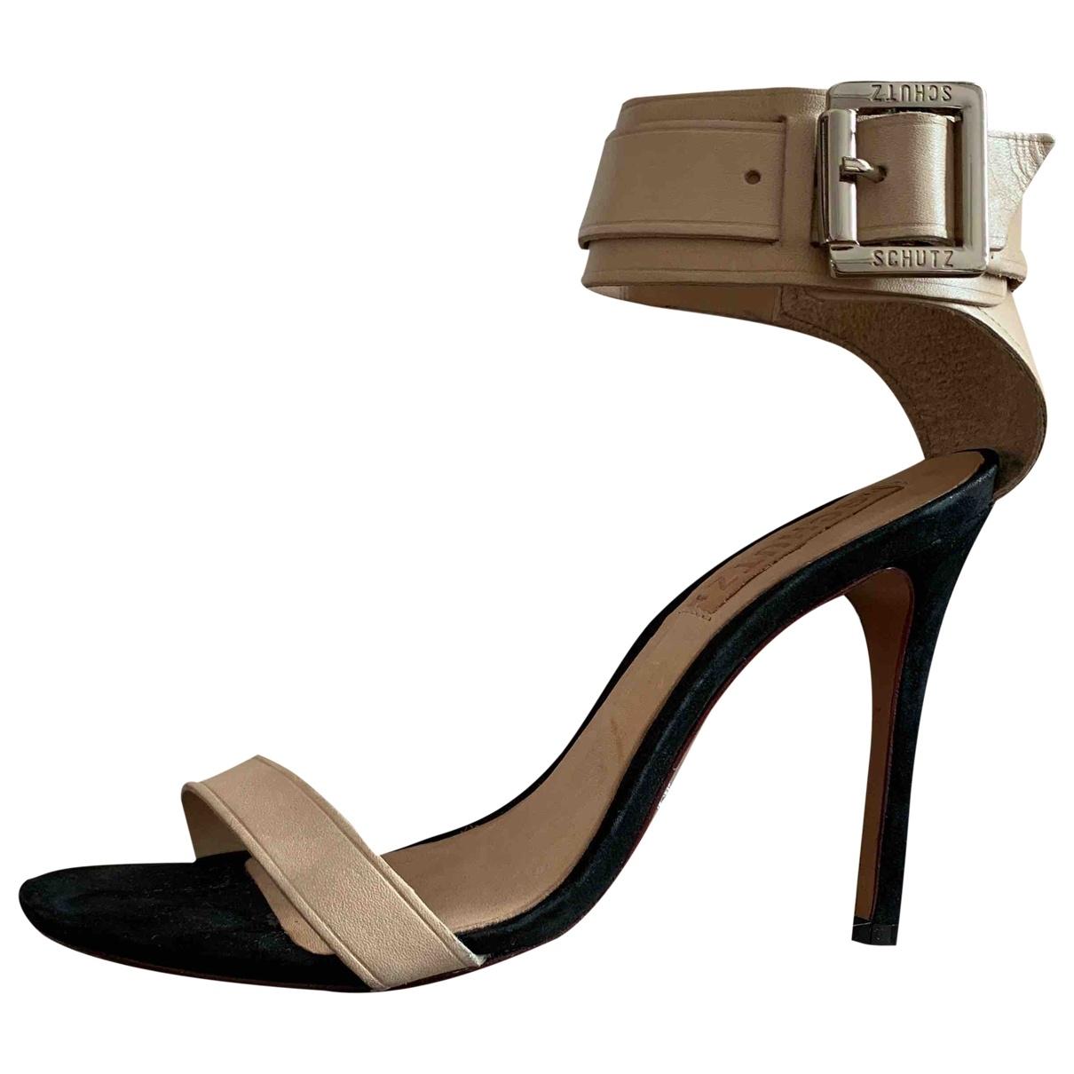 Schutz - Sandales   pour femme en cuir - beige