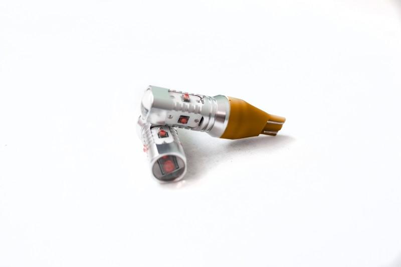 Race Sport Lighting RST15HPA Amber T15 BLAST Series Hi Power 10W CREE LED Replacement BulbsPair