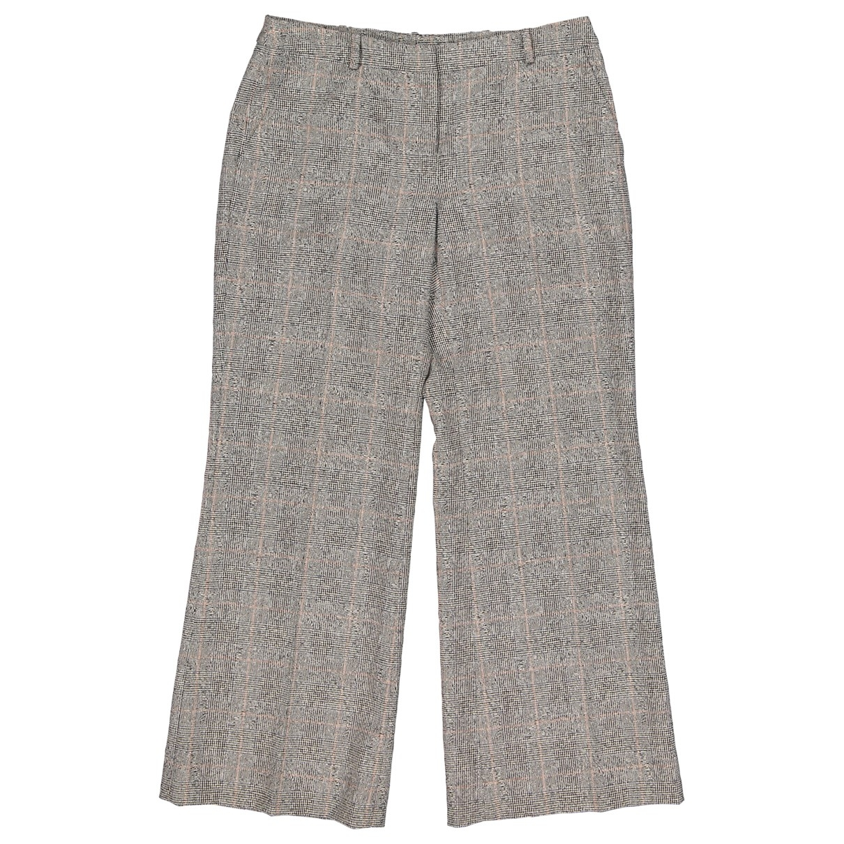 Alexander Mcqueen \N Grey Wool Trousers for Women 38 IT
