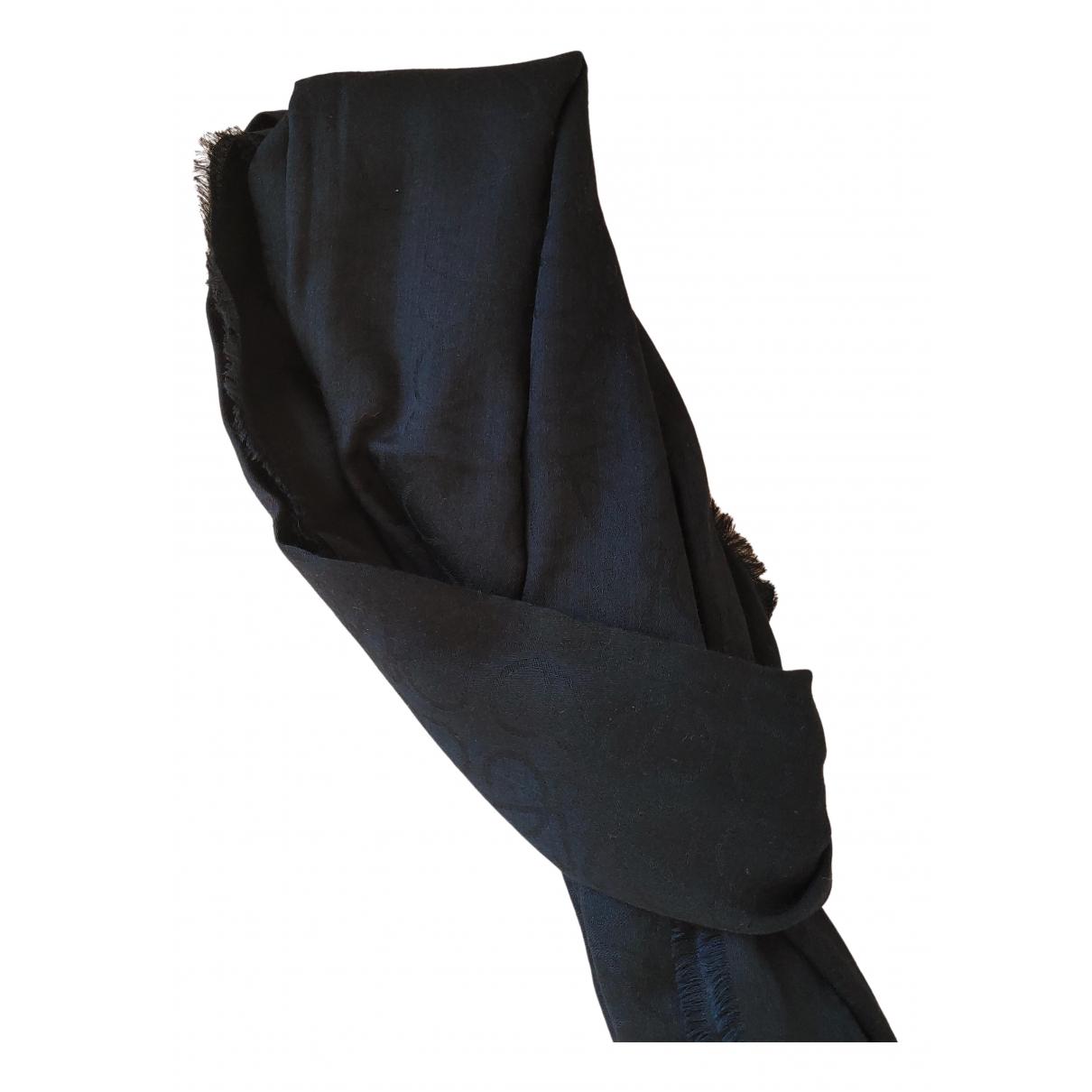 Loewe \N Navy Wool scarf & pocket squares for Men \N