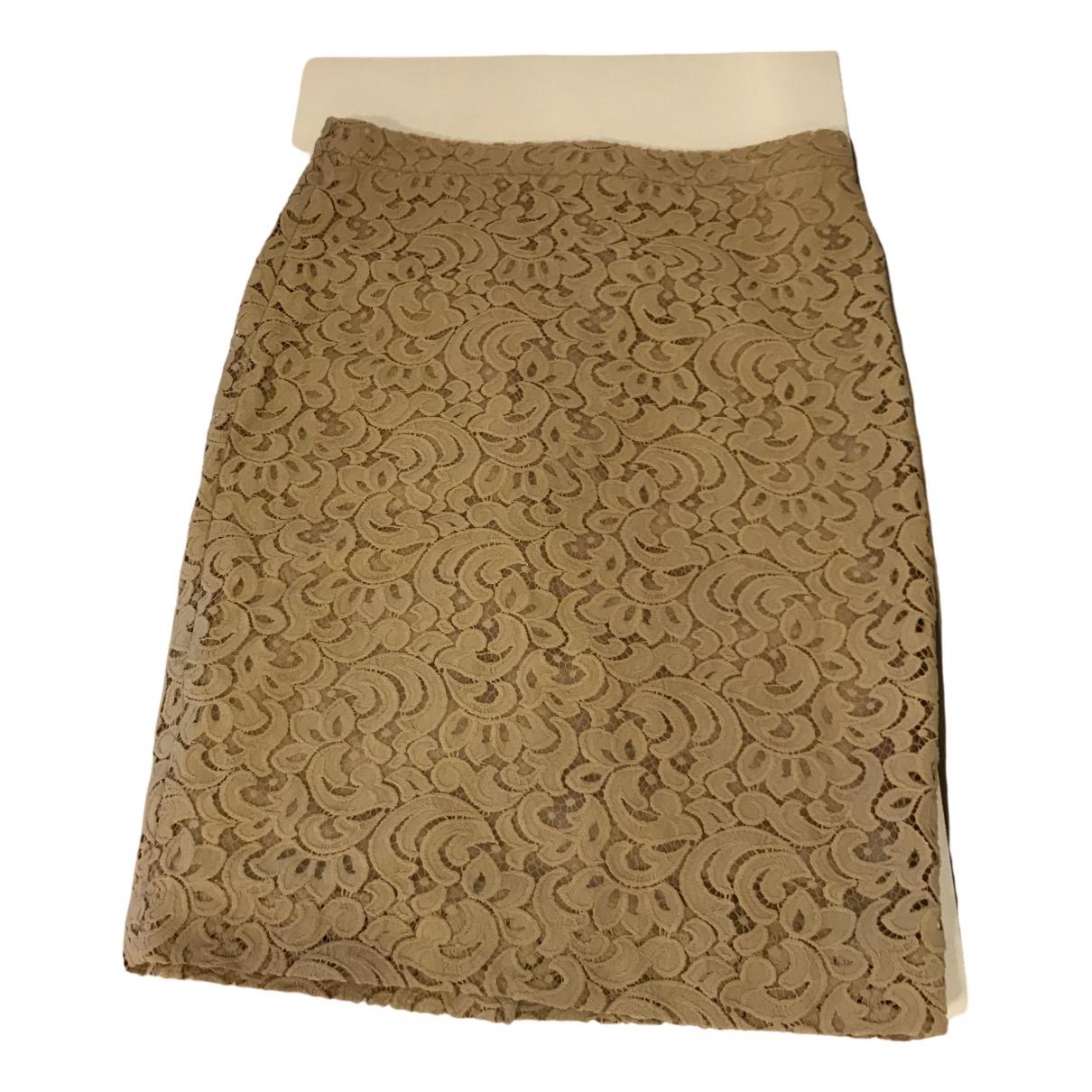 Marc Cain - Jupe   pour femme en coton - elasthane - beige