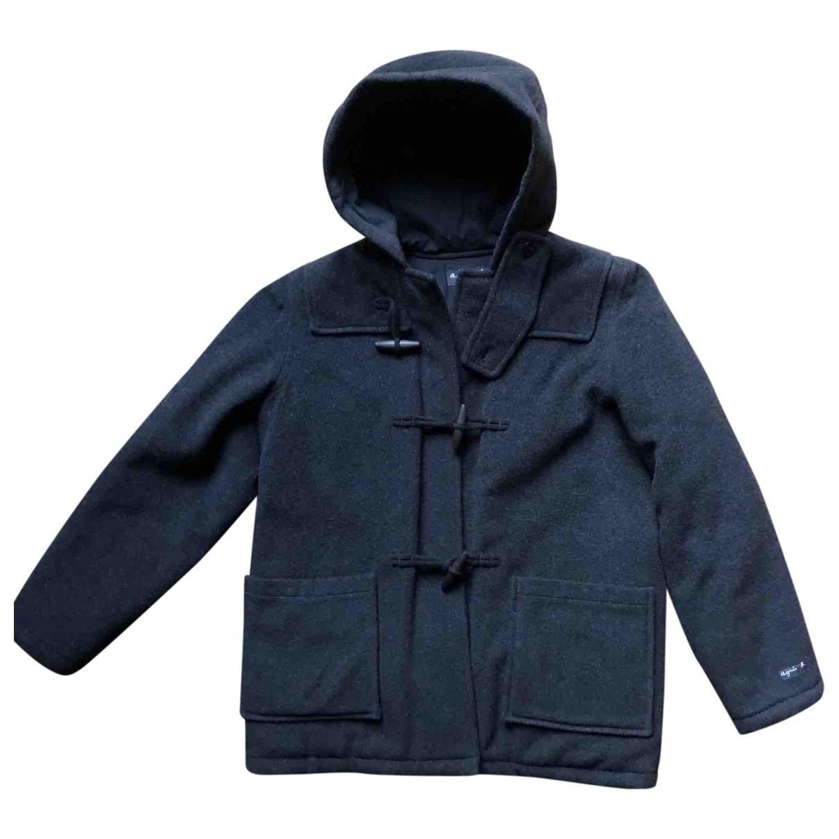 Agnes B. - Blousons.Manteaux   pour enfant en laine - gris