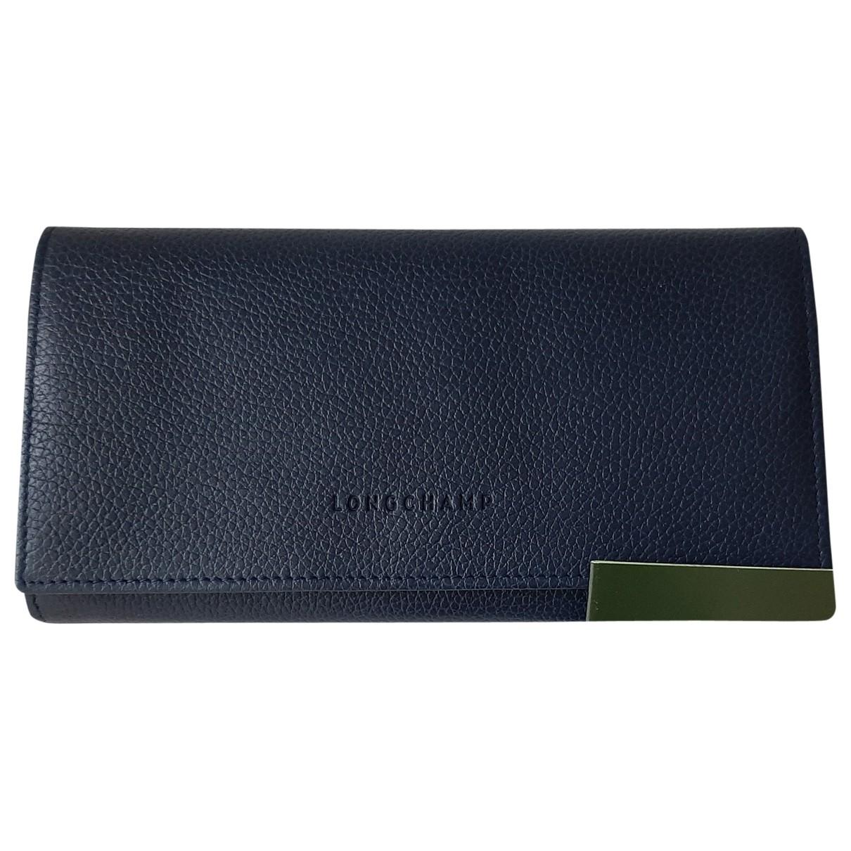 Longchamp \N Blue Leather Purses, wallet & cases for Women \N