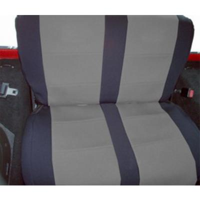 Coverking Neoprene Rear Seat Cover (Black/Gray) - SPC255
