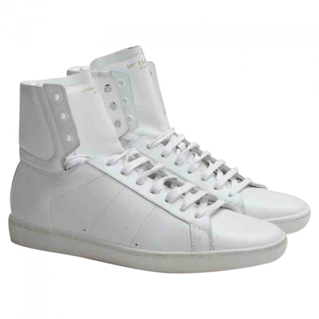 Saint Laurent \N White Leather Trainers for Women 40 EU