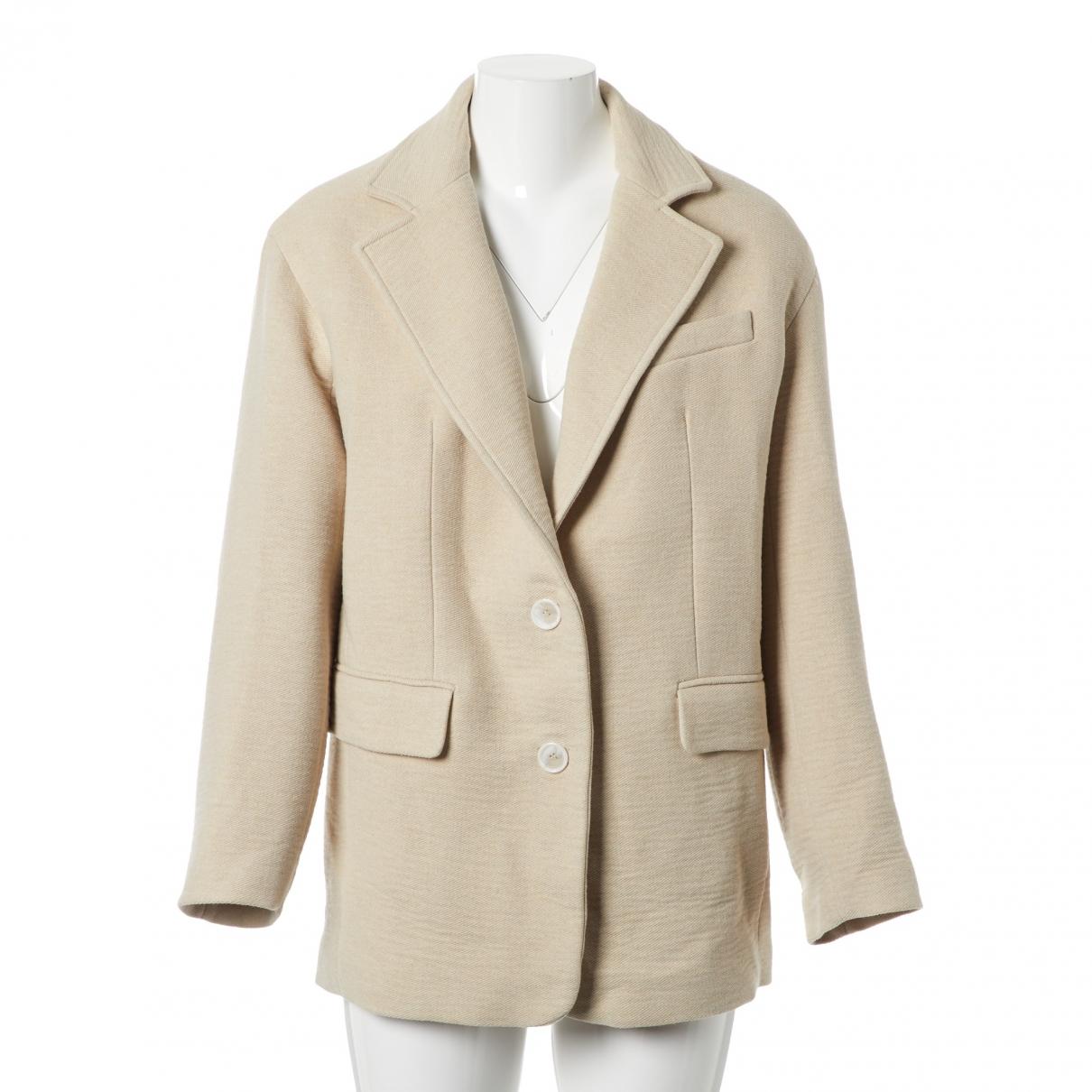 Iro - Manteau   pour femme en coton - beige