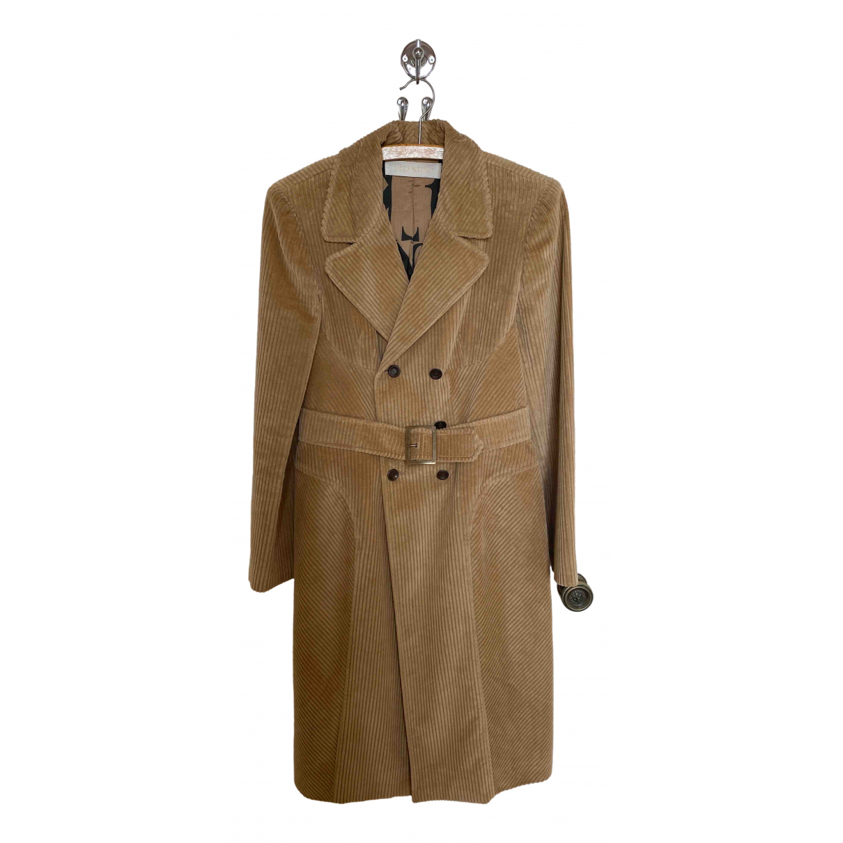 Valentino Garavani \N Beige Cotton coat for Women 8 UK