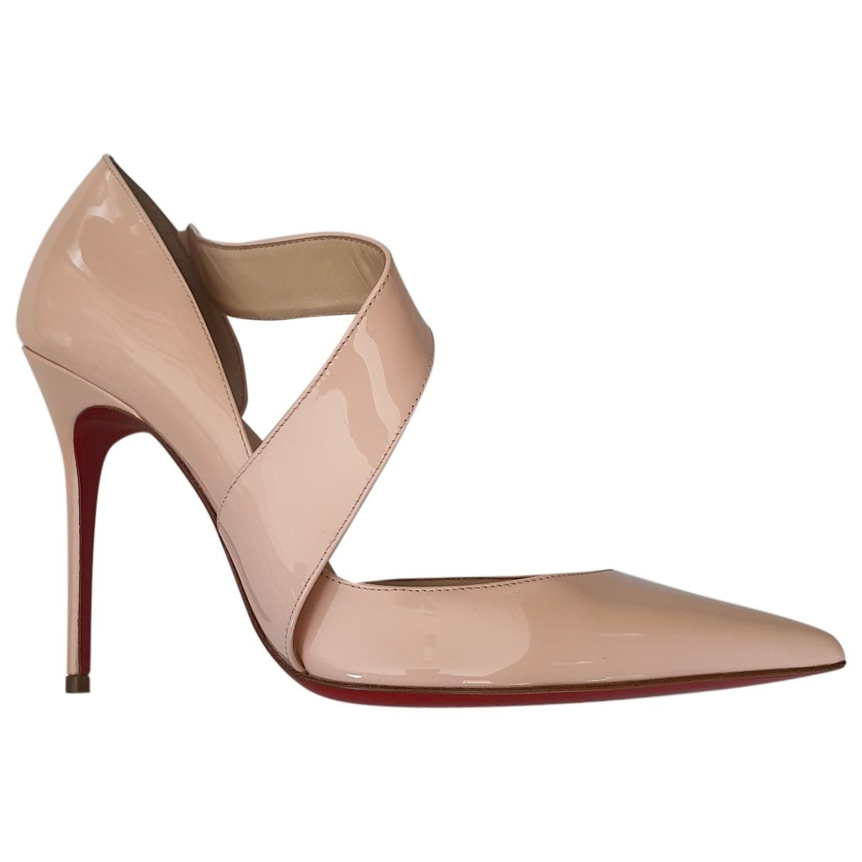 Christian Louboutin \N Pink Patent leather Heels for Women 37.5 EU