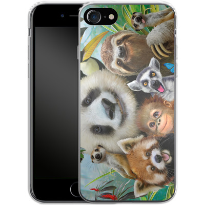 Apple iPhone 8 Silikon Handyhuelle - Zoo Selfie von Howard Robinson