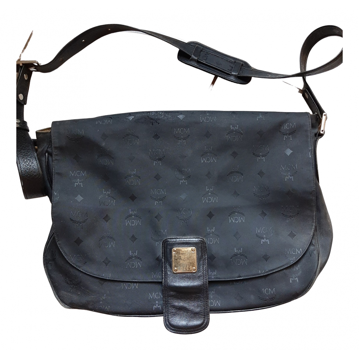 Mcm \N Black Leather handbag for Women \N