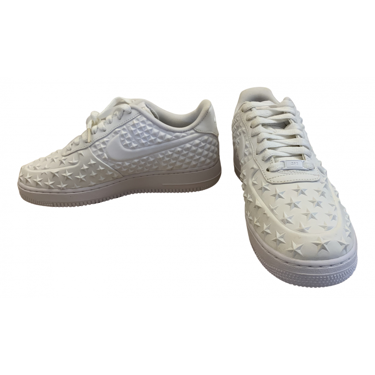 Nike - Baskets Air Force 1 pour homme en caoutchouc - blanc