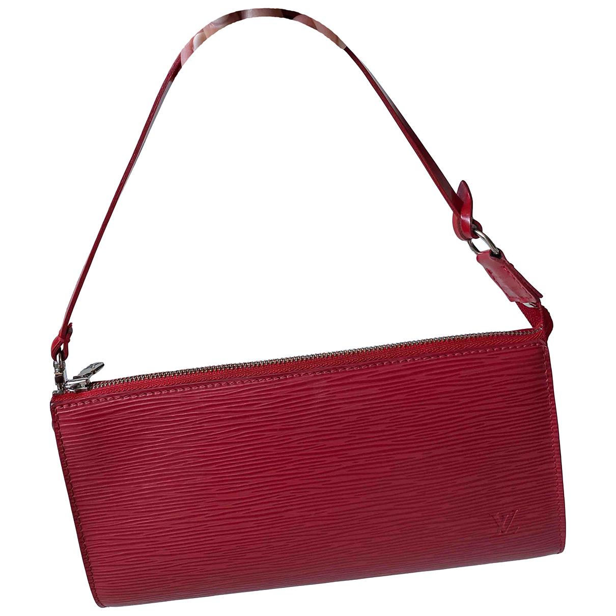 Louis Vuitton Lexington Clutch in  Rot Leder