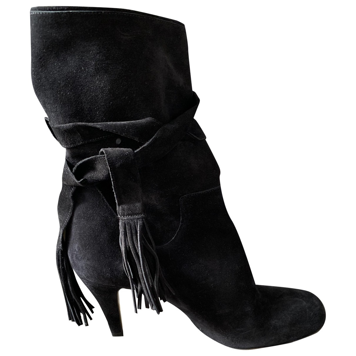 Chloé \N Grey Leather Ankle boots for Women 41 EU