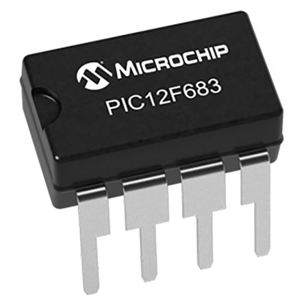 Microchip PIC12F683-I/P, 8bit PIC Microcontroller, PIC12F683, 20MHz, 3.5 kB Flash, 8-Pin PDIP (5)