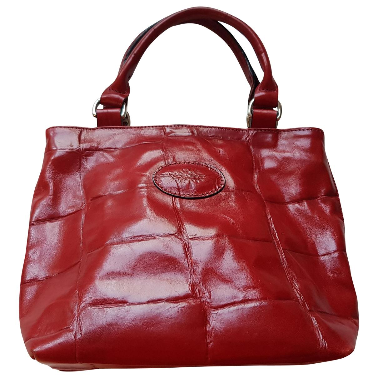 Mulberry \N Handtasche in  Rot Leder