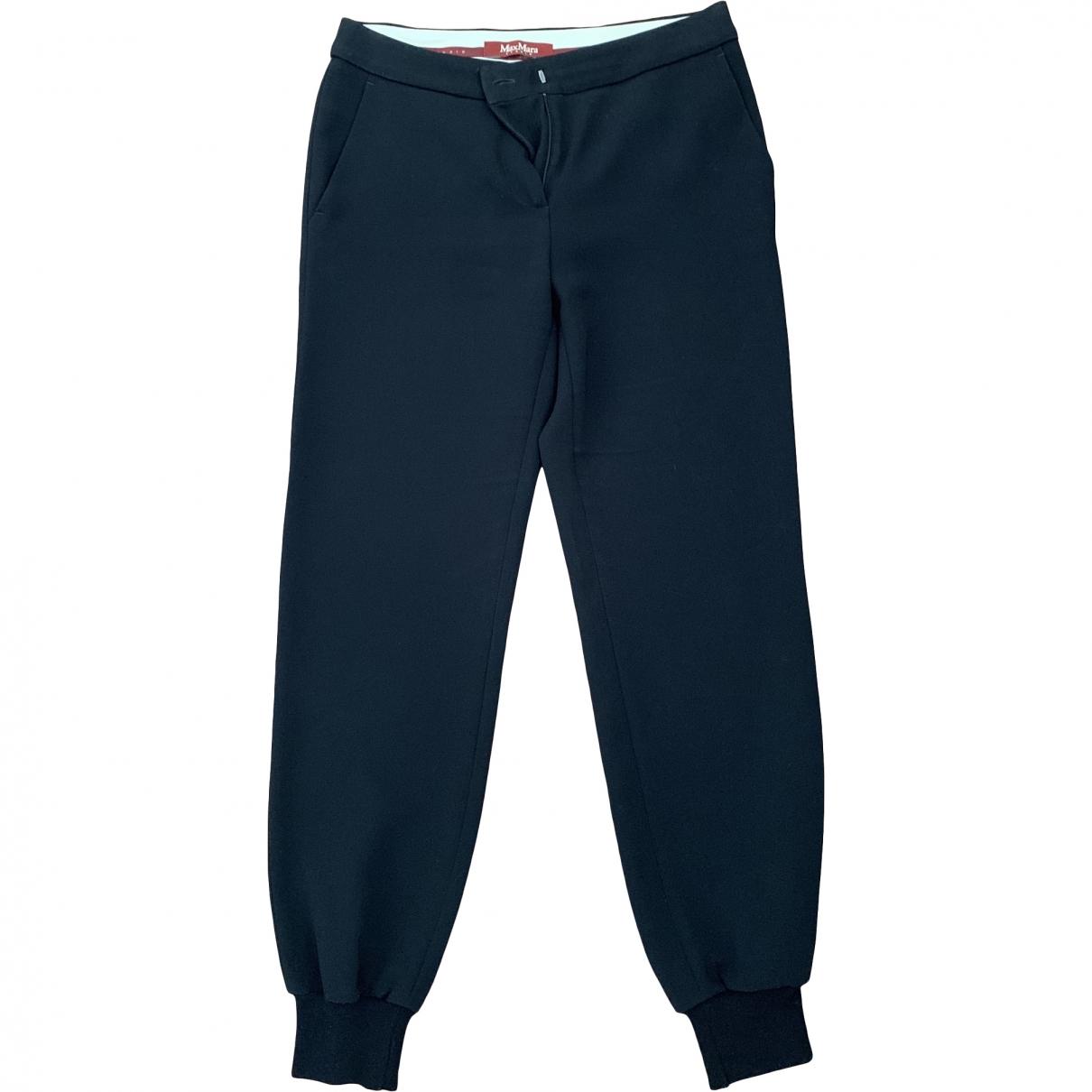 Max Mara Studio \N Black Trousers for Women 38 IT