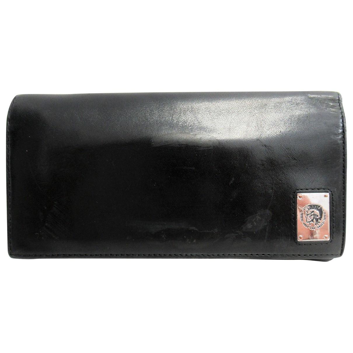 Diesel \N Portemonnaie in  Schwarz Leder