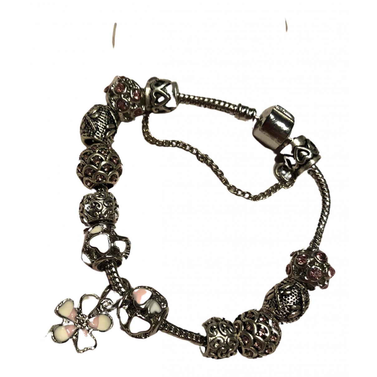 - Bracelet Motifs Floraux pour femme en acier - argente