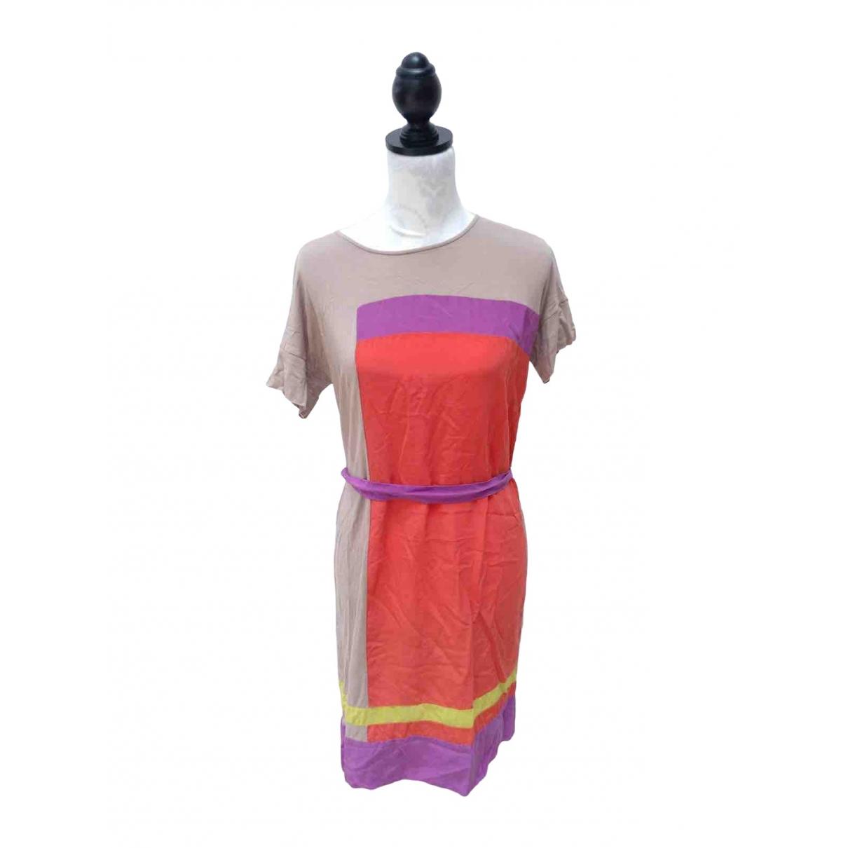 Bcbg Max Azria - Robe   pour femme en soie - multicolore