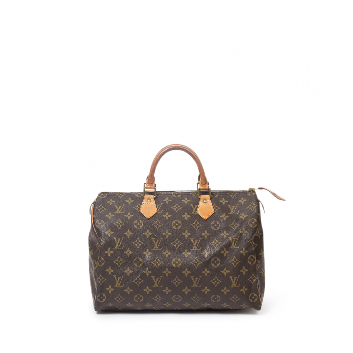 Louis Vuitton Speedy Handtasche in  Braun Baumwolle