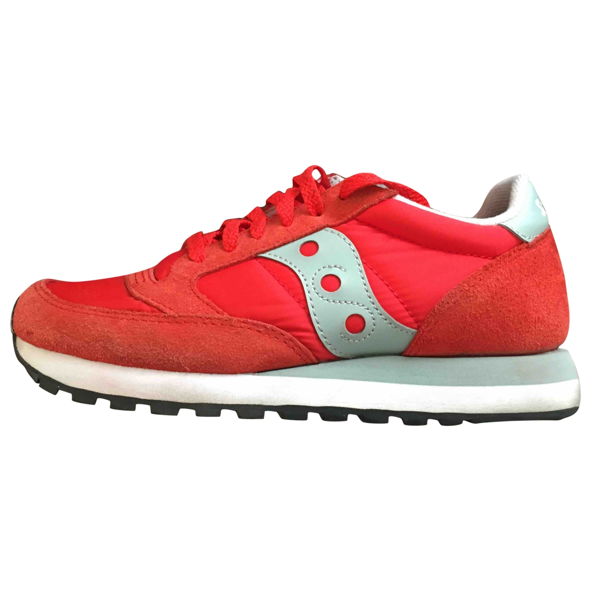 Saucony \N Red Suede Trainers for Women 38.5 EU