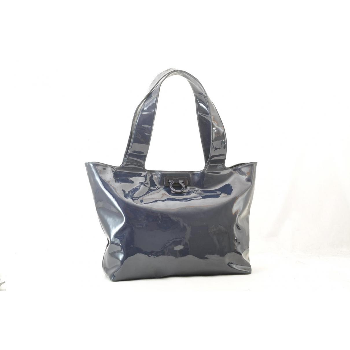 Salvatore Ferragamo \N Blue Patent leather handbag for Women \N