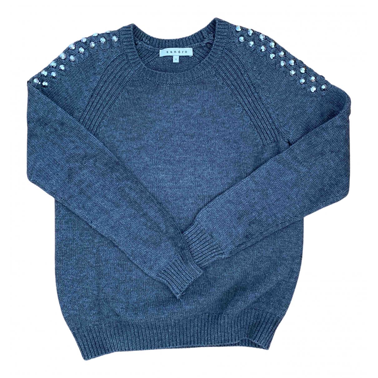 Sandro \N Pullover in  Grau Wolle