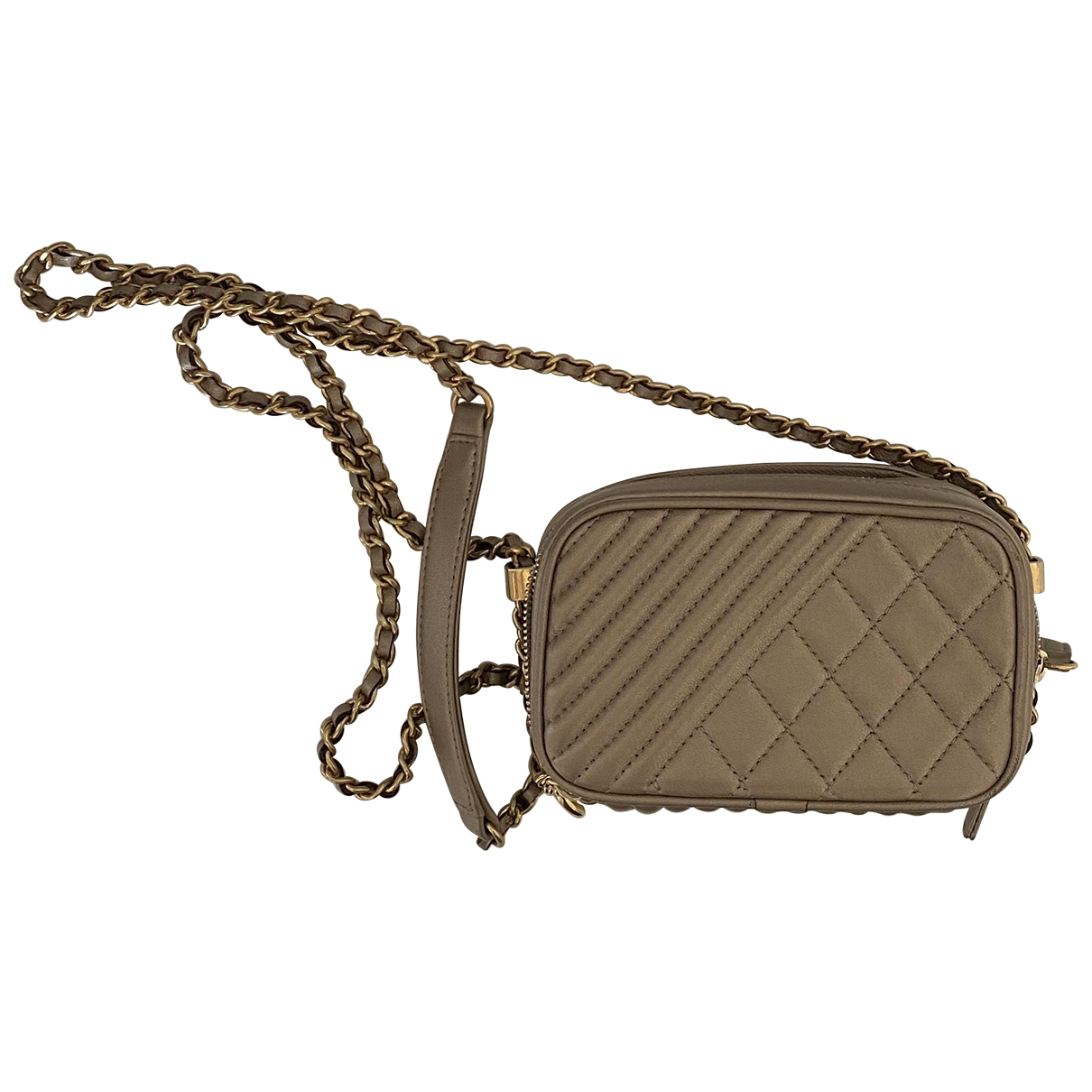 Chanel Camera Beige Leather handbag for Women \N