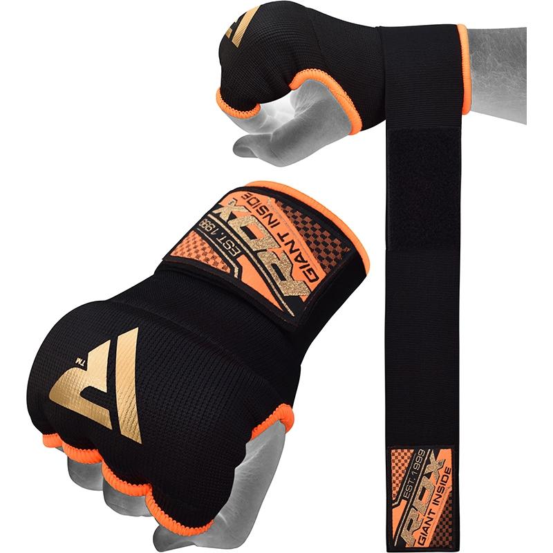 RDX IS 75cm Gel Sous Gants avec Sangle de Poignet X Grande  Orange Bonneterie