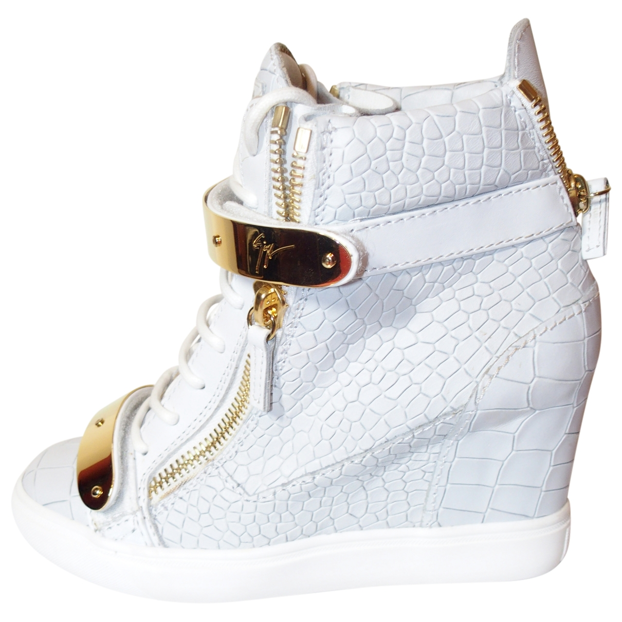 Giuseppe Zanotti Donna Sneakers in  Weiss Leder
