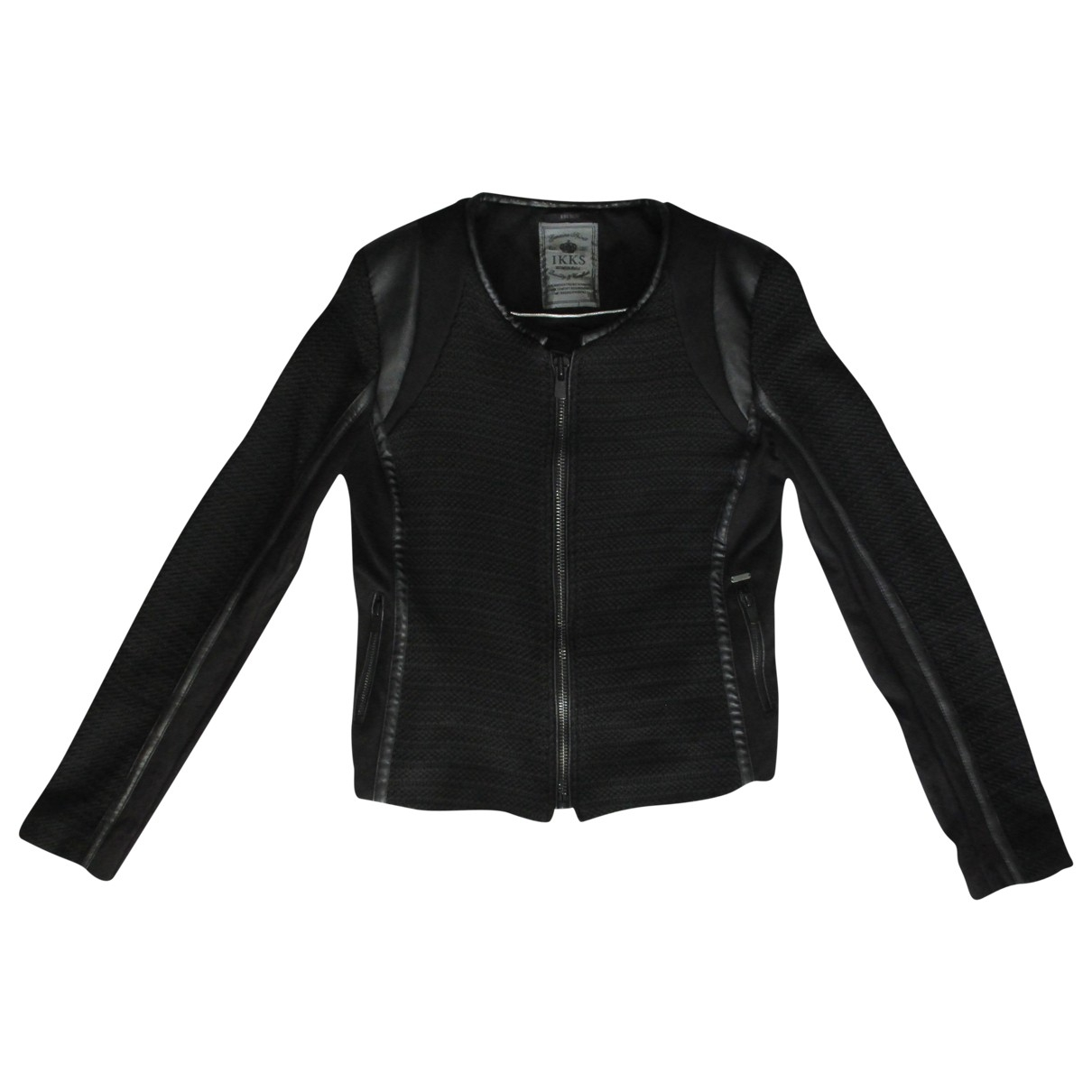 Ikks \N Black Leather jacket for Women 38 FR